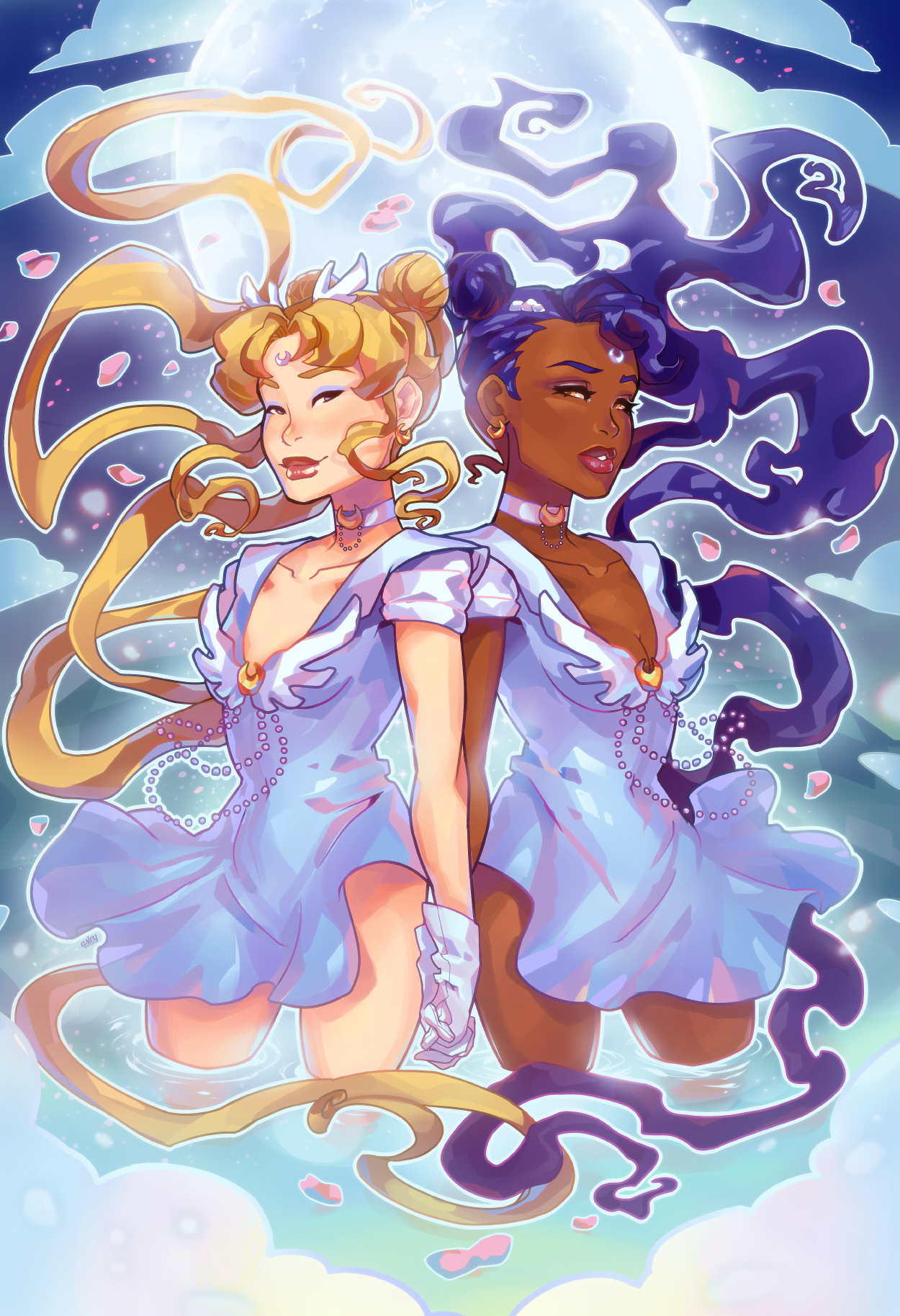 Sailor Moon illustration by asieybarbie